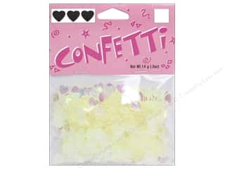 Darice Confetti Pack 6 mm Hearts .5 oz. Iridescent