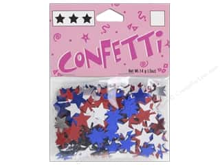 Darice Confetti Pack 11 mm Stars .5 oz. Red/White/Blue