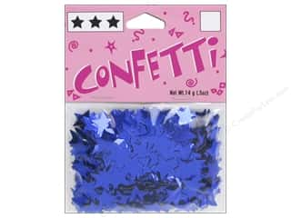 scrapbooking & paper crafts: Darice Confetti Pack 11 mm Stars .5 oz. Blue