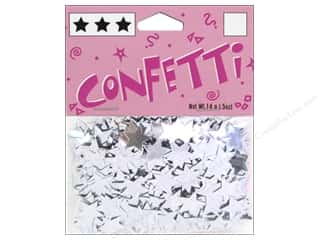 scrapbooking & paper crafts: Darice Confetti Pack 11 mm Stars .5 oz. Silver