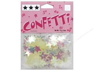 scrapbooking & paper crafts: Darice Confetti Pack 11 mm Stars .5 oz. Iridescent