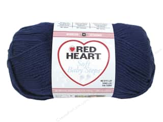 Clearance Red Heart Baby Clouds Yarn: Red Heart Soft Baby Steps Yarn #9851 Navy 256 yd.