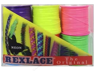 beading & jewelry making supplies: Pepperell Vinyl Craft Lace 6 Pack Neon Colors
