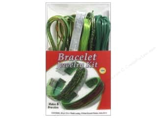 New Years Resolution Sale Kit: Pepperell Vinyl Craft Lace Jewelry Kit Bracelet Emerald