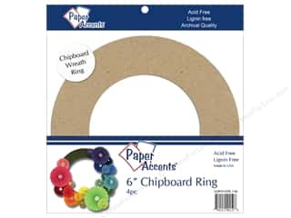 Paper Accents Chipboard Shape 6 in. Wreath 4 pc. Kraft