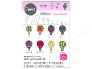 dies: Sizzix Triplits Dies Hot Air Balloons by Stephanie Barnard
