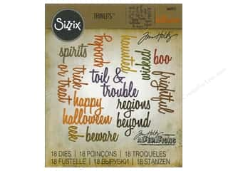 Sizzix: Sizzix Thinlits Dies Halloween Words Script by Tim Holtz