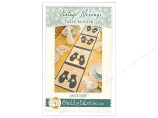 Shabby Fabrics Vintage Blessings January Table Runner Pattern