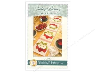Table Runners / Kitchen Linen Patterns: Shabby Fabrics Vintage Blessings June Table Runner Pattern