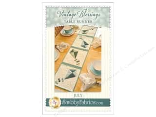 Shabby Fabrics Vintage Blessings July Table Runner Pattern