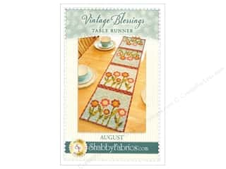 books & patterns: Shabby Fabrics Vintage Blessings August Table Runner Pattern