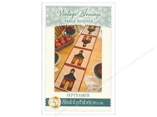 books & patterns: Shabby Fabrics Vintage Blessings September Table Runner Pattern