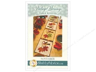 Table Runners / Kitchen Linen Patterns: Shabby Fabrics Vintage Blessings November Table Runner Pattern