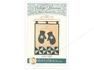 Clearance: Shabby Fabrics Vintage Blessings January Wall Quilt Pattern