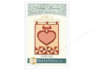 Valentine's Day Gifts: Shabby Fabrics Vintage Blessings February Wall Quilt Pattern