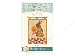 Shabby Fabrics Vintage Blessings April Wall Quilt Pattern
