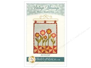 Shabby Fabrics Vintage Blessings August Wall Quilt Pattern