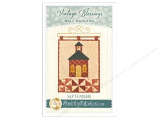 Shabby Fabrics Vintage Blessings September Wall Quilt Pattern