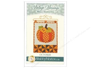 Shabby Fabrics Vintage Blessings October Wall Quilt Pattern