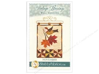 decorative bird: Shabby Fabrics Vintage Blessings November Wall Quilt Pattern