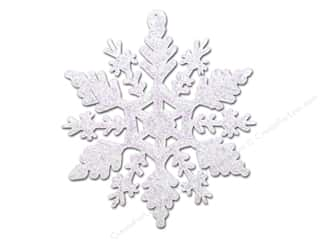 Sierra Pacific Decor Ornament Snowflake Clear With Iridescent Glitter 12 pc