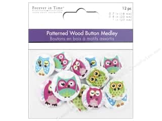 scrapbooking & paper crafts: Multicraft Buttons Wood Assorted Owl Mania