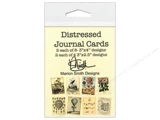Cards & Envelopes  2.5 x 2.5: Marion Smith Embellishment Distressed Journal Cards 24pc