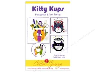 Cotton Ginnys Kitty Kups Pincushion & Tool Pocket Pattern