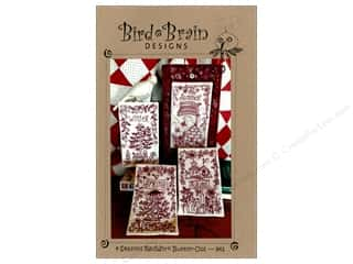 Bird Brain Designs 4 Seasons RedWork Button-Ups Pattern