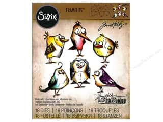 Sizzix Framelits Die Set Bird Crazy by Tim Holtz