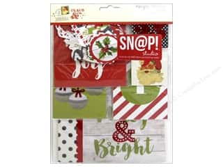 Clearance Coredinations Cardstock Packs: Simple Stories Claus & Co Collection Snap Pack