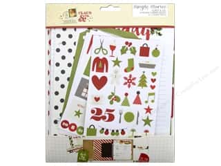 Holiday Sale Printed Cardstock: Simple Stories Claus & Co Collection Inserts Holiday Planning
