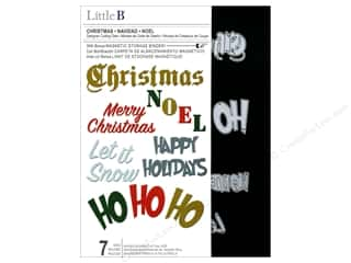 die cutting machines: Little B Cutting Die Christmas Phrases