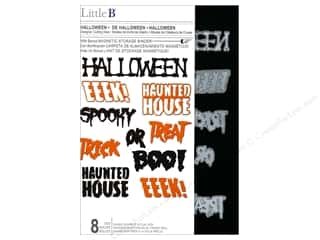 die cutting machines: Little B Cutting Die Halloween Phrases