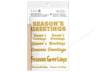 Clearance: Little B Rub On Season's Greetings