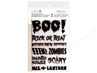 scrapbooking & paper crafts: Little B Rub On Boo Halloween Phrases