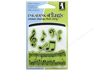 stamps: Inkadinkado Stamp Inkadinkaclings Mini Music Notes