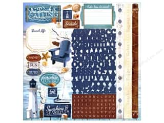 """stickers  cardstock: Paper House Sticker Cardstock At The Beach 12""""x 12"""""""
