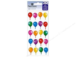 Paper House Sticker 3D Puffy Birthday Balloons