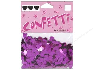 Darice Confetti Pack 6mm Hearts Hot Pink .5oz