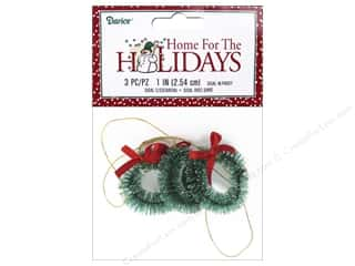 craft & hobbies: Darice Holiday 1 in. Sisal Wreath Frost 3 pc