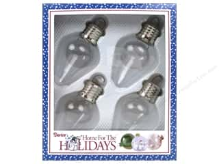 Ornament: Darice Holiday Glass Ornament Bulb 3.82 in. Clear 4 pc