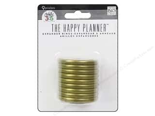 Me & My Big Ideas Create 365 The Happy Planner Expander Rings 9 pc. Gold