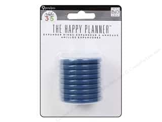 Me & My Big Ideas Create 365 The Happy Planner Expander Rings 9 pc. Blue