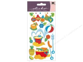 EK Sticko Stickers Vellum Beach Party