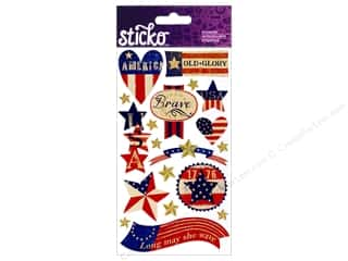 Sticko Stickers - Patriotic Stars and Stripes