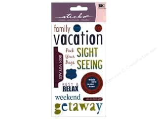 Caption Stickers / Frame Stickers: EK Sticko Stickers Vacation