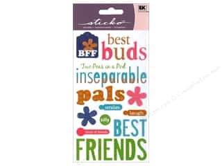 Caption Stickers / Frame Stickers: EK Sticko Stickers Friendship