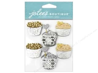 stickers: Jolee's Boutique Stickers Repeat Glittery Cupcakes