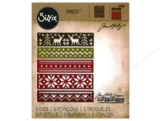 Sizzix: Sizzix Thinlits Dies Holiday Knits by Tim Holtz